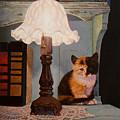 Kitten By The Lamp by Abel DeLaRosa