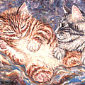 Kittens Sleeping by Linda Mears