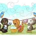 Kittens Washing Mittens by Little Bunny Sunshine