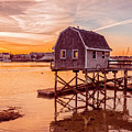 Kittery Maine Harbor Sunset by Edward Fielding