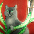 Kitty In The Plants by Denise Fulmer