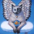 Kitty Yin Yang- Cat Angel by Sue Halstenberg