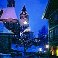 Kitzbuhl At Night-4 by Bob Phillips