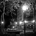 Kleman Plaza At Night by Wayne Denmark