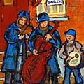 Klezmer Band Street Performance Jewish Musicians Live Band Jewish Art Carole Spandau Canadian Artist by Carole Spandau