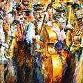 Klezmer Cats - Palette Knife Oil Painting On Canvas By Leonid Afremov by Leonid Afremov