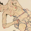Kneider weiblicher halbakt by Egon Schiele