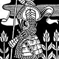Knight Of Arthur, Preparing To Go Into Battle by Aubrey Beardsley