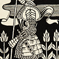 Knight Of Arthur, Preparing To Go Into Battle, Illustration From Le Morte D'arthur By Thomas Malory by Aubrey Beardsley