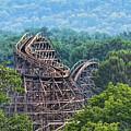 Knobels Wooden Roller Coaster  by Paul Ward
