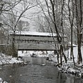 Knox Valley Forge Covered Bridge In Winter by Bill Cannon