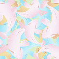Koi Fish Powder Pink - Blue by Joni Warden