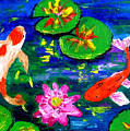 Koi Fishes Pond by Inna Montano