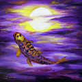 Koi In Purple Twilight by Laura Iverson