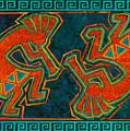 Kokopelli Dancers by Linda Henry