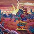Kokopelli Sunset by Megan Walsh