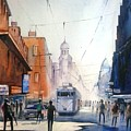 Kolkata City With Tram by Sooneel Chauhan