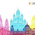 Kolkata Skyline Pop by Pablo Romero