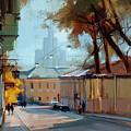 Kolpachny Lane. Autumn Motive. by Alexey Shalaev