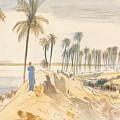 Kom El Amhr, 1 Pm, 4 January 1867 by Edward Lear