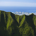 Koolau Mountains And Honolulu by Dana Edmunds - Printscapes