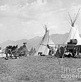 Kootenai First Nations Camp, C.1920-30s by H. Armstrong Roberts/ClassicStock