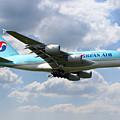 Korean Air Airbus A380 by J Biggadike