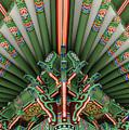 Korean Bell Of Friendship Detail San Pedro by David Zanzinger
