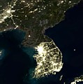 Korean Peninsula by Planet Observer and SPL and Photo Researchers