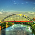 Korean Veterans Memorial Bridge 2 Nashville Tennessee Sunset Art by Reid Callaway