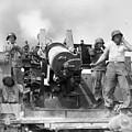 Korean War Artillerymen by Granger