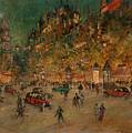 Korovin, Konstantin 1861-1939 Les Grands Boulevards, Paris by Korovin Konstantin