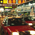 Kowloon Street Scene At Night With Neon by Justin Guariglia