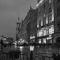 Krakow Nights Black And White by Sharon Popek