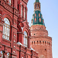 Kremlin Tower In Moscow by Alain De Maximy