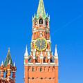 Kremlin's Clock Tower by Alain De Maximy