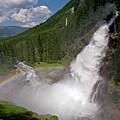 Krimml Waterfall And Rainbow by Aivar Mikko