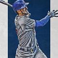 Kris Bryant Chicago Cubs Art 3 by Joe Hamilton