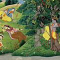 Krishna Fluting The The Milkmaids by Unknown Artist