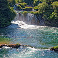 Krka National Park Waterfalls 5 by Sally Weigand