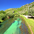 Krka River Below Knin Fortress View by Brch Photography