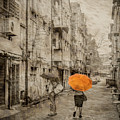 Kuala Lumpur, Malaysia - Orange Umbrella by Mark Forte
