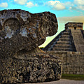 Kukulkan Pyramid At Chichen Itza In The Yucatan Of Mexico by Sam Antonio Photography
