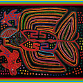 Kuna Indian Flying Fish  by Vagabond Folk Art - Virginia Vivier