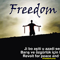 Kurdish Peace And Freedom Poster by Celestial Images
