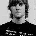 Kurt Cobain Mug Shot Vertical Black And Gray Grey by Tony Rubino
