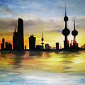 Kuwait City Sunset From The Bay by Giuseppe Costantino