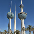 Kuwait Towers In Kuwait City, Kuwait by Ivan Batinic