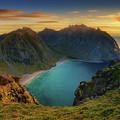 Kvalvika Sunset by James Billings