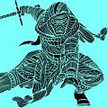 Kylo Ren - Star Wars Art - Blue by Studio Grafiikka